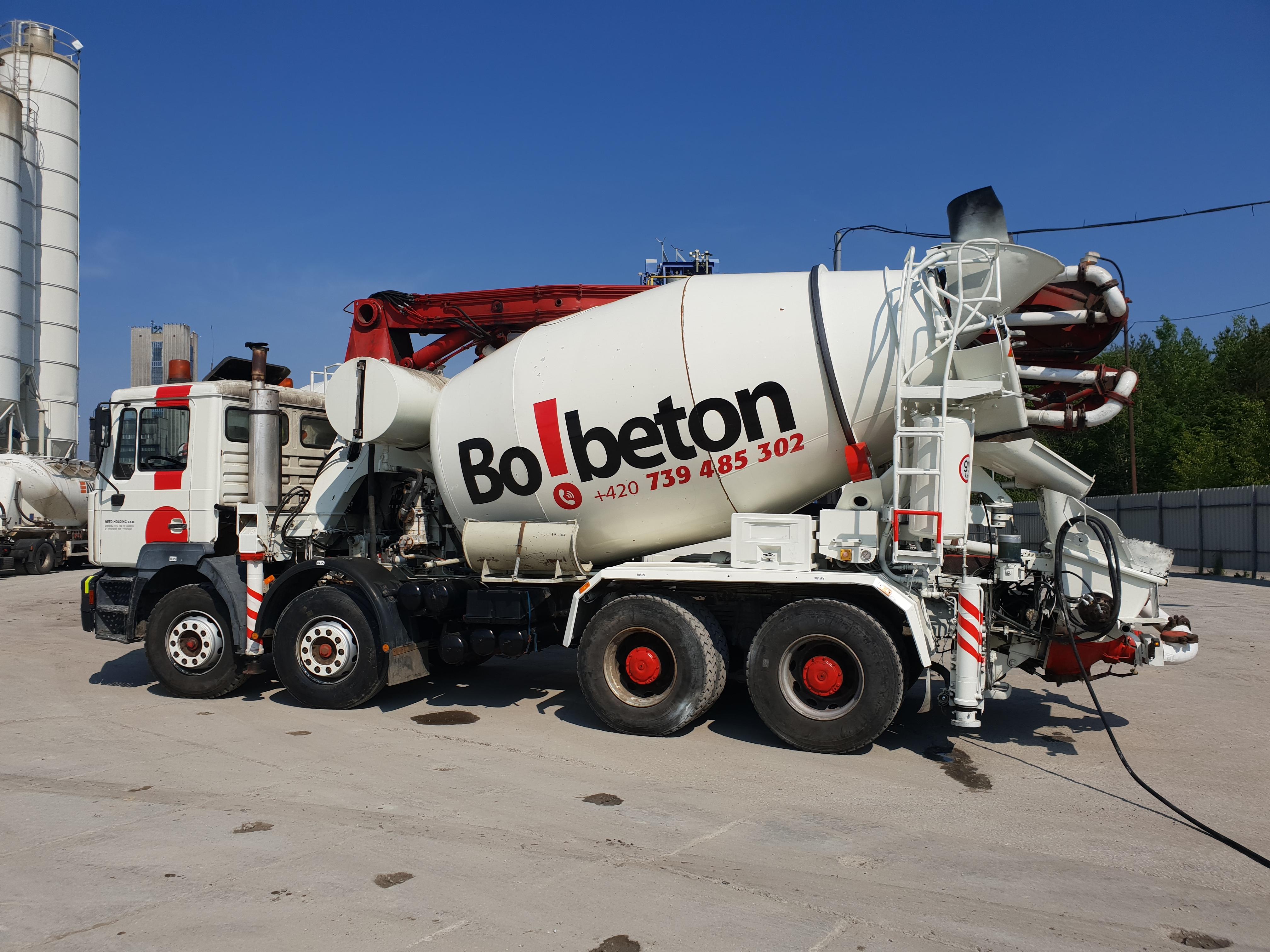 Čerpání betonu od společnosti BoBeton